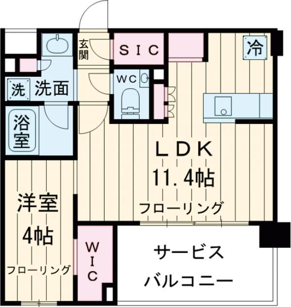 グローベル ザ・プレイス 東高円寺・209号室の間取り