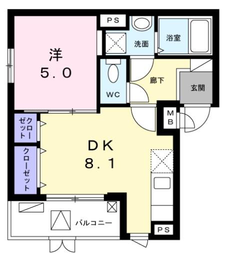 MARUJYU HOUSE・01010号室の間取り
