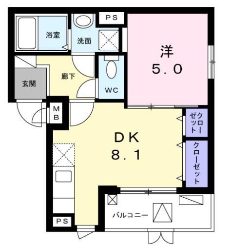 MARUJYU HOUSE・01020号室の間取り