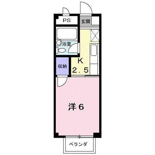 コ-ポユリ・02020号室の間取り