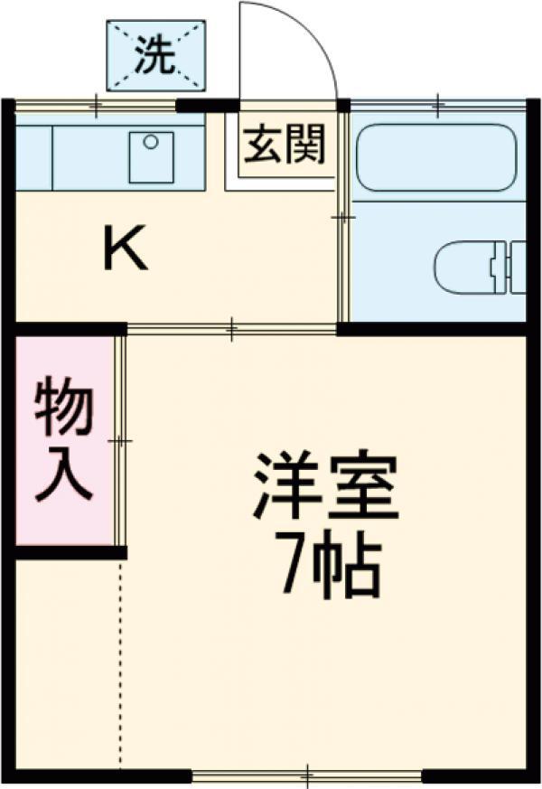 住吉荘 201号室の間取り