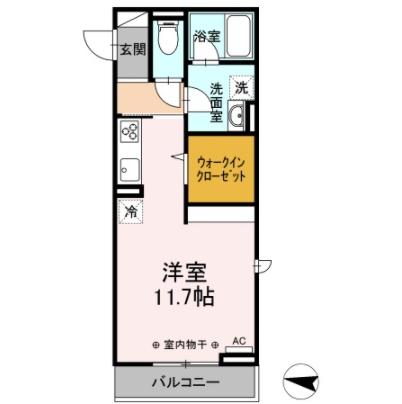 (仮)D-roomゆいの杜5丁目 302号室の間取り