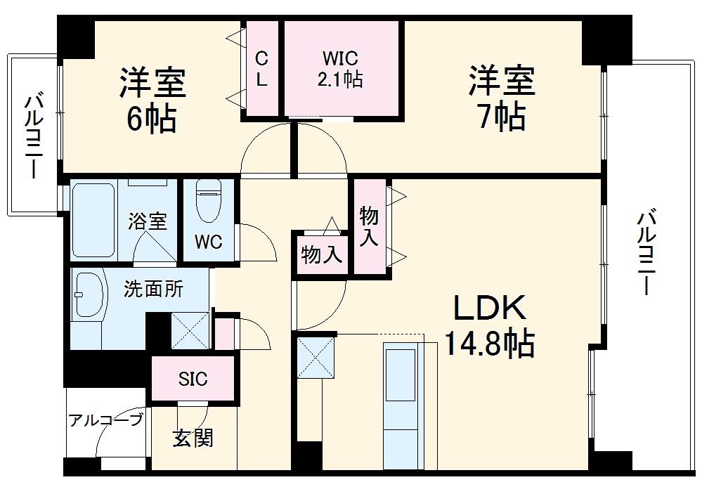 (仮)富が丘新築マンション 301号室の間取り