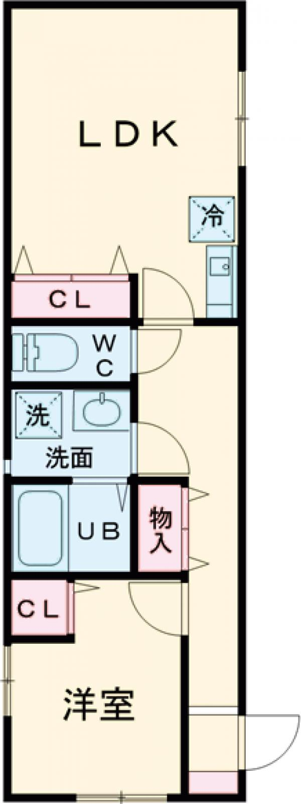(仮称)コルサ世田谷 106号室の間取り