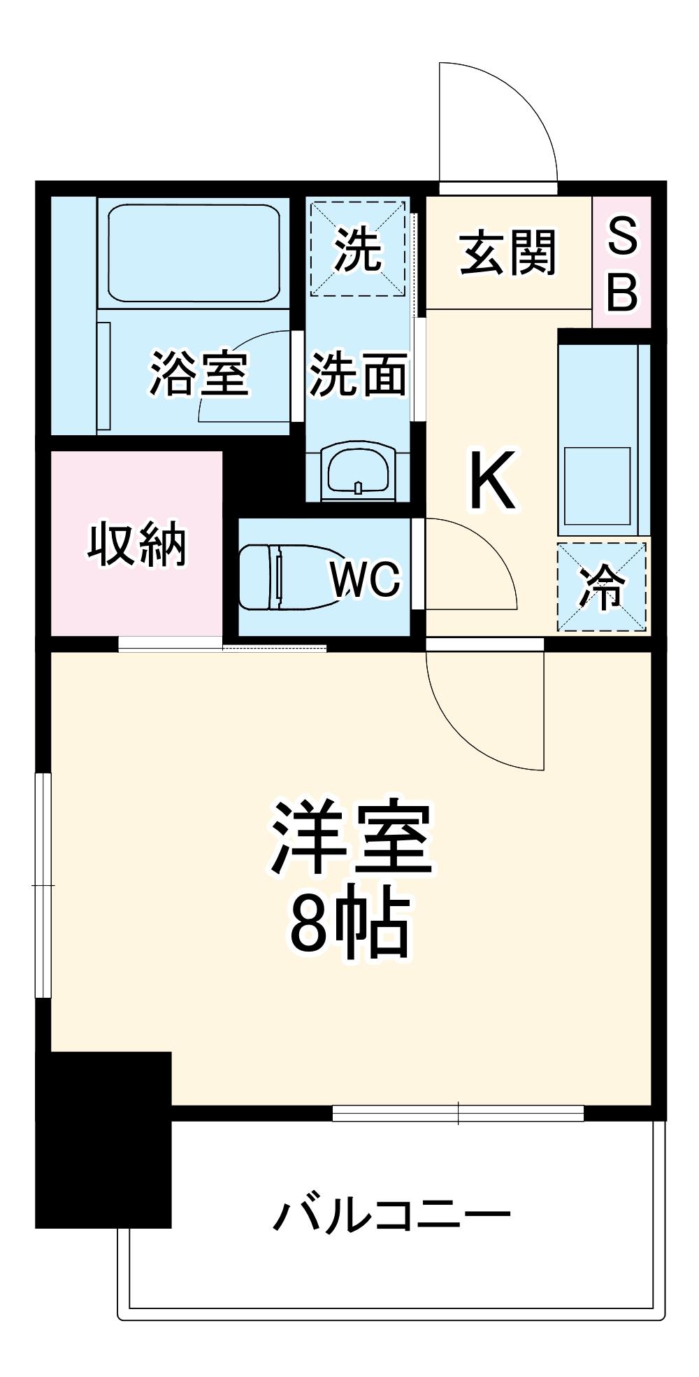 ヴィークブライト名古屋新栄 205号室の間取り