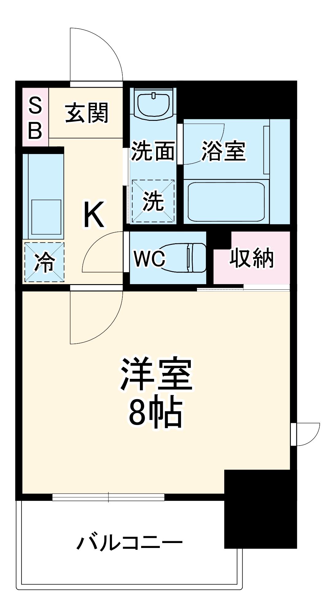 ヴィークブライト名古屋新栄 306号室の間取り