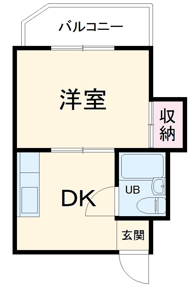 菱屋マンション・203号室の間取り