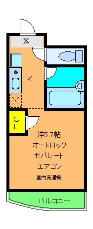 エクシード西院Ⅱ 0203号室の間取り