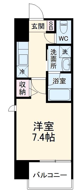 ヴィークブライト名古屋新栄 901号室の間取り