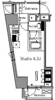 パークアクシス新板橋ウエスト 904号室の間取り