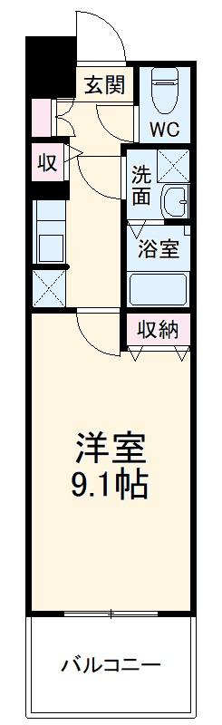 S-RESIDENCE本郷Ⅱ 212号室の間取り