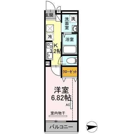 仮)D-room花畑PJ 105号室の間取り