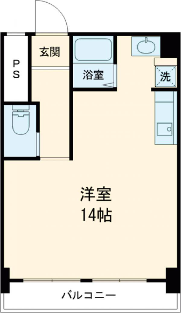 代沢ハウス・102号室の間取り