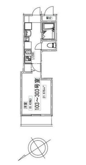 メゾンドエル北新宿 203号室の間取り