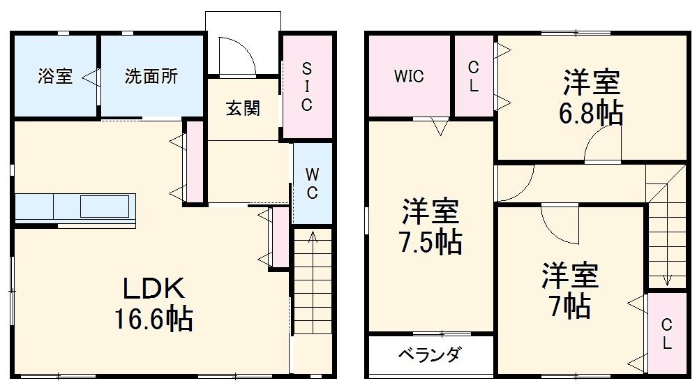 仮)松栄町新築借家・A号室の間取り
