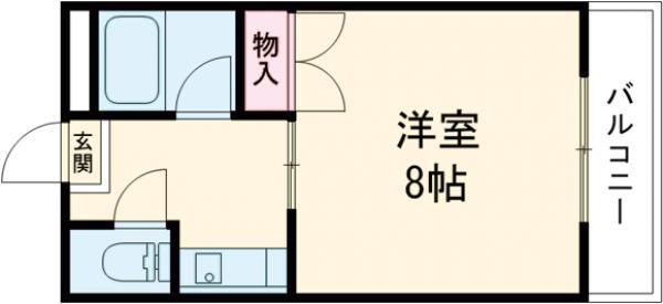Mプラザ津田駅前八番館 408号室の間取り