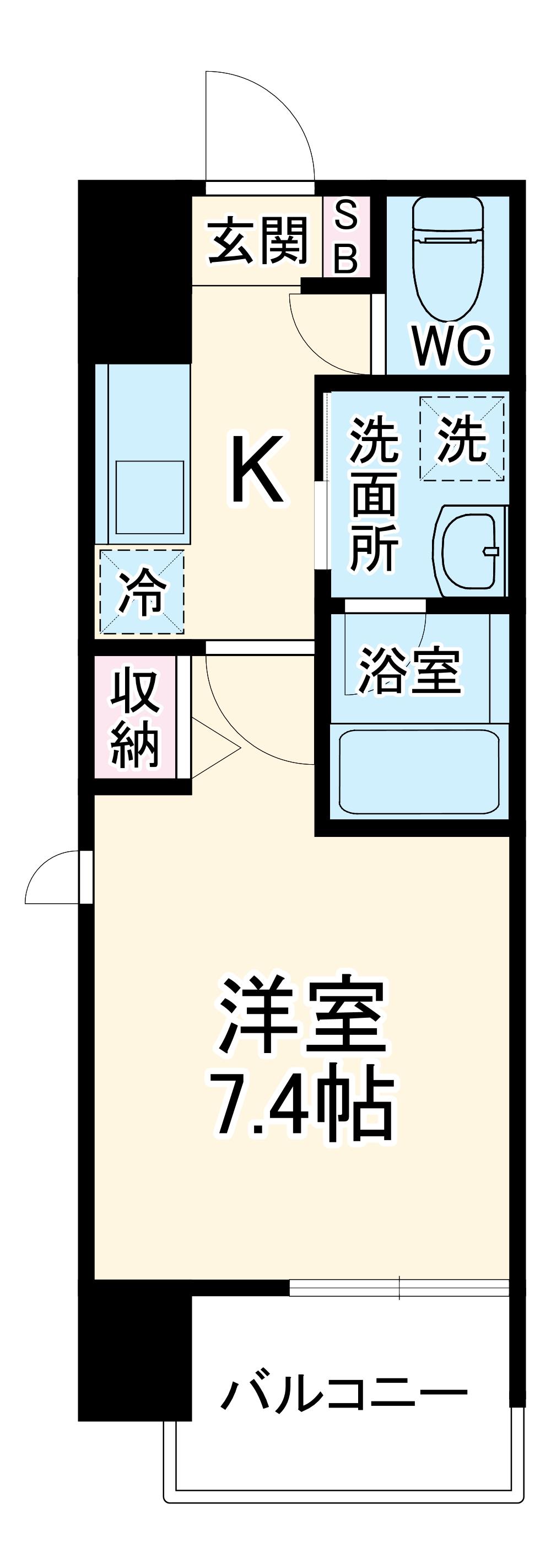 ヴィークブライト名古屋新栄 1001号室の間取り