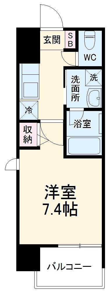 ヴィークブライト名古屋新栄 1101号室の間取り