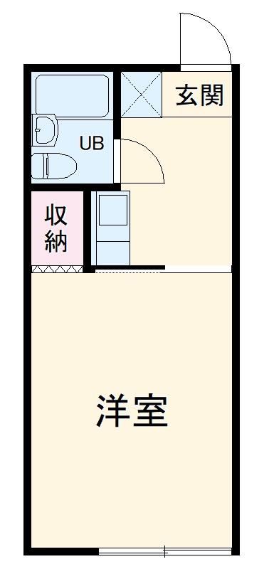 サンライズ茅ヶ崎・202号室の間取り