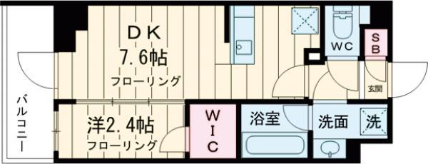 ステージファースト経堂アジールコート 207号室の間取り