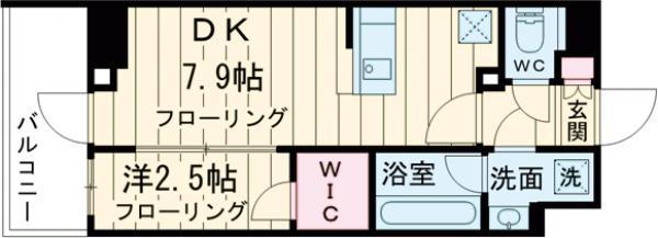 ステージファースト経堂アジールコート 304号室の間取り