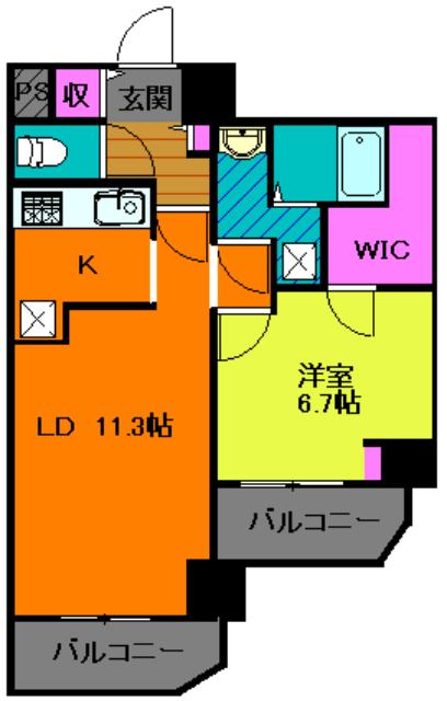 アンベリール マーロ北綾瀬Ⅰ・504号室の間取り