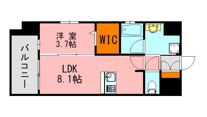 LANDIC K320 601号室の間取り