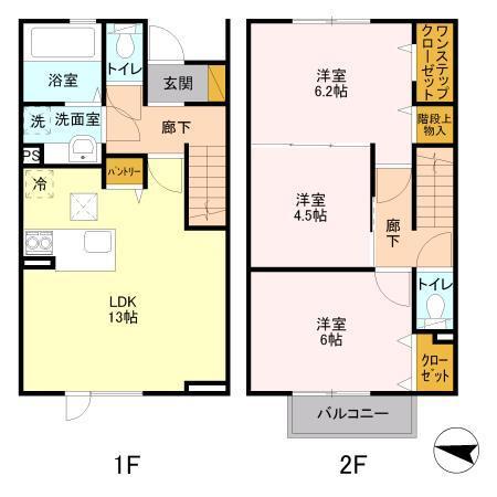 メゾンドSATOMI B棟・112号室の間取り