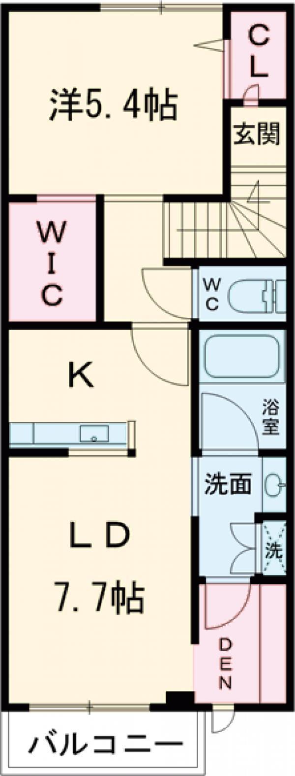 (仮称)深沢5丁目計画 202号室の間取り
