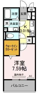 仮)D-room北野町 303号室の間取り