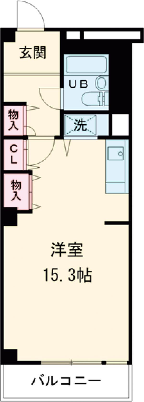 アクティ目黒駅前 1号棟 506号室の間取り