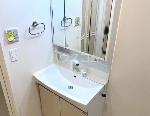 ラパンブルー 202号室の洗面所