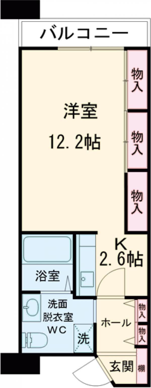 シティコート目黒 3号棟・402号室の間取り