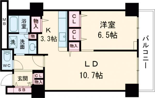 シティコート目黒 4号棟・514号室の間取り