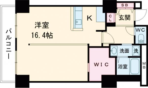 シティコート目黒 4号棟・708号室の間取り