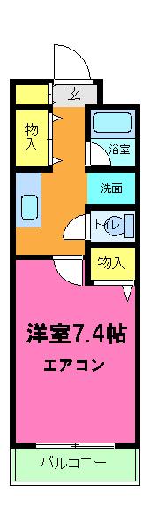 AKATSUKIⅡ 205号室の間取り