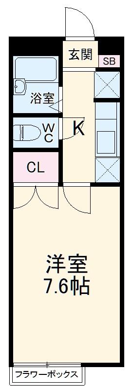 アムール上福岡・101号室の間取り