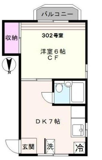 柴田マンション 302号室の間取り