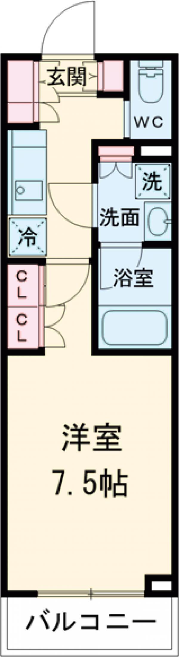 ブライズ世田谷桜・213号室の間取り