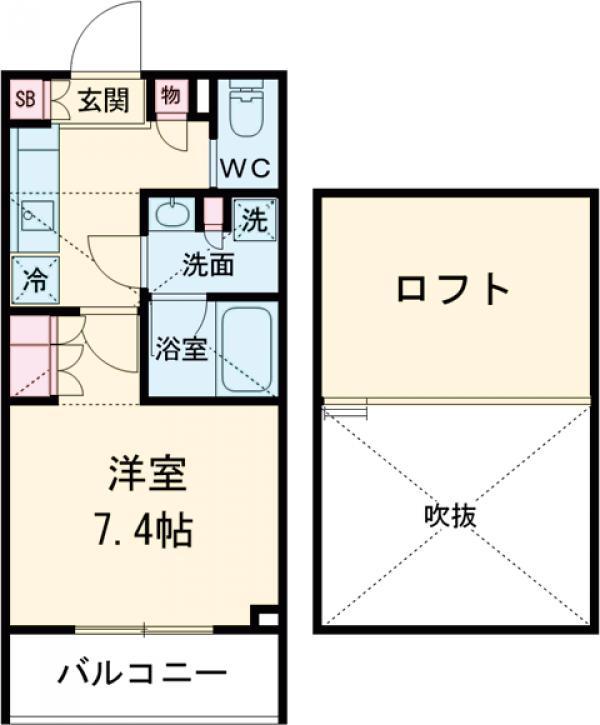 ブライズ世田谷桜・101号室の間取り