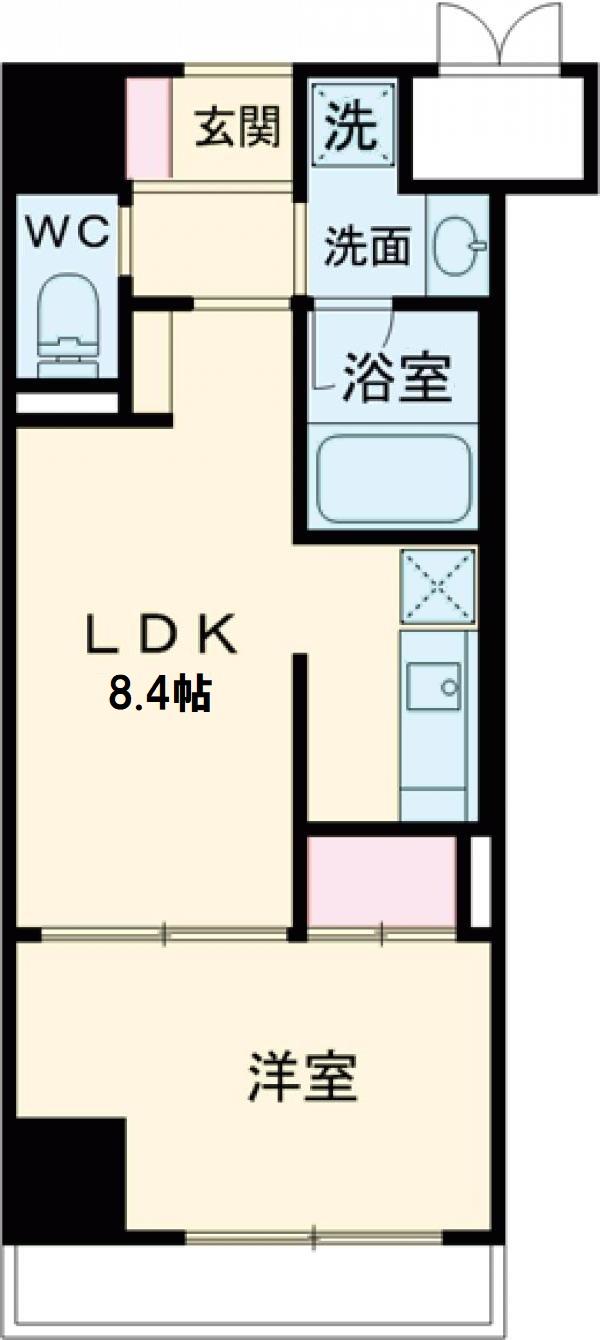(仮称)山野内興産様マンション・405号室の間取り
