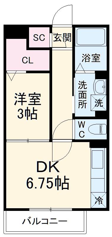 (仮)D-room上木崎6丁目・205号室の間取り