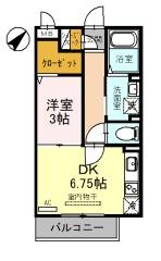 (仮)D-room上木崎6丁目・305号室の間取り
