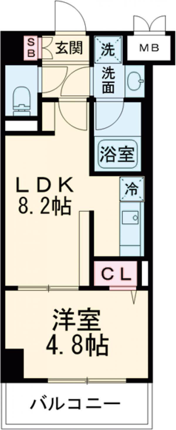 (仮称)山野内興産様マンション・402号室の間取り