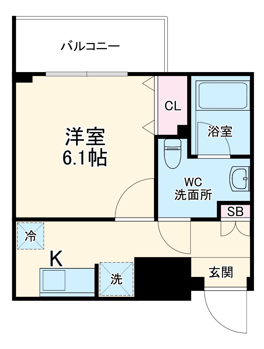 (仮称)生田駅前PJ 304号室の間取り