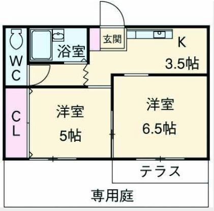 リーフコート東六郷・0103号室の間取り