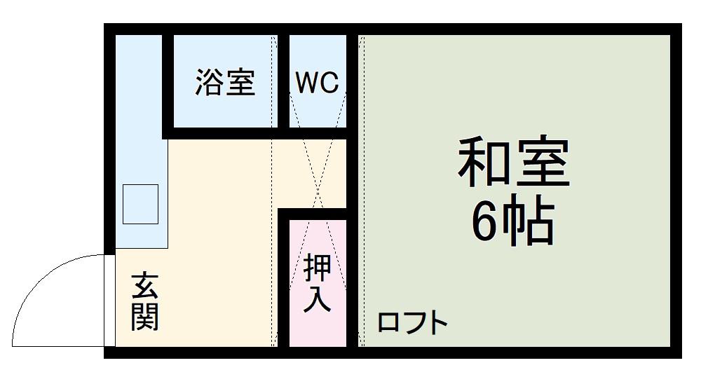 小泉アパートNo.8・11号室の間取り
