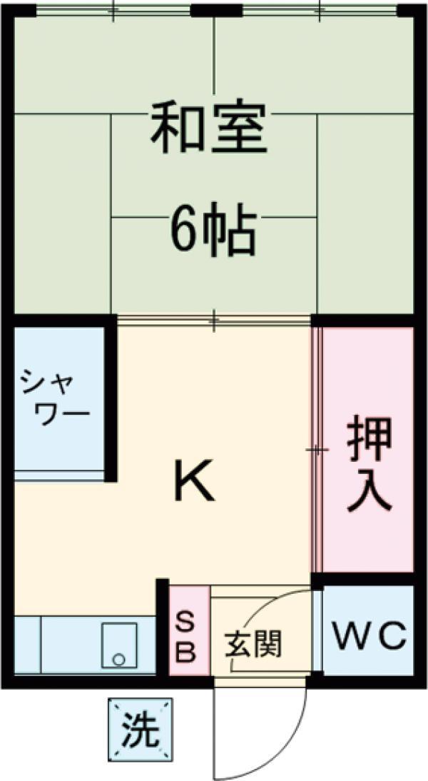 永友荘 202号室の間取り