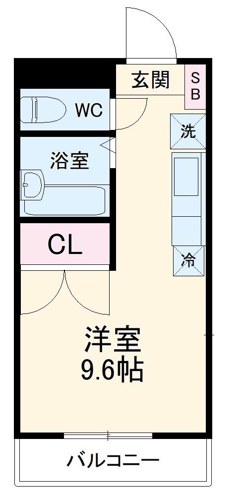 REALJOY薬円台五番館・206号室の間取り