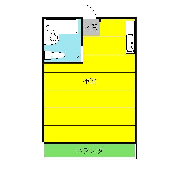 メゾン岸和田・203号室の間取り